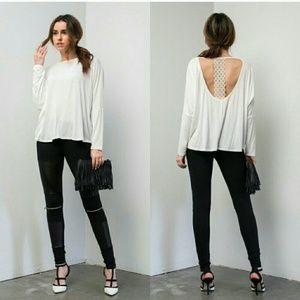 Sexy open back shirt
